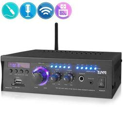 Pyle PCAU46BA Wireless Power Amplifier Home Audio Bluetooth