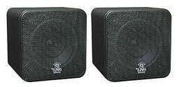"Pyle Pcb4bk 4"" 200 Watt Mini Cube Speaker"