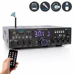 Pyle PDA4BU Wireless Bluetooth Home Stereo Amplifier-Multi-C