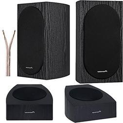 """Pioneer Speaker Bundle 4"""" 2-Way Bookshelf Speakers + Add-on"""