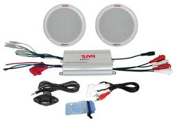 PYLE PLMRKT2A 2 Channel Waterproof MP3-iPod Amplified with 6