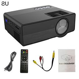 LED Video Projector, 1080P 3D Wifi Android Bluetooth HD Home