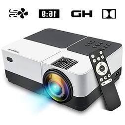 Wsiiroon LED Projector, 2019 Newest Outdoor Portable Movie V