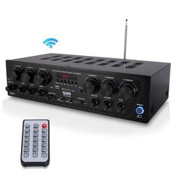 pta62bt bluetooth home audio amplifier 6 ch