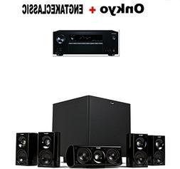 Onkyo Receiver  + Klipsch HDT-600 Home Theater System Bundle
