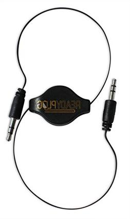 ReadyPlug Retractable 3.5mm Audio Cable for: Cyber Acoustics