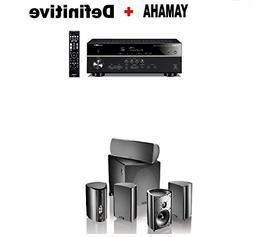 Yamaha RX-V485BL 5.1-Channel 4K Ultra HD AV Receiver + Defin