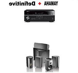 Yamaha RX-V685BL 7.2-Channel 4K Ultra HD AV Receiver + Defin