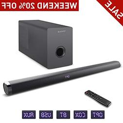 Sound Bar Subwoofer, hmovie Soundbar TV 36.6 inch 2.1 Channe