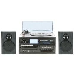 QFX TURN-250 Turntable Audio System With Speakers