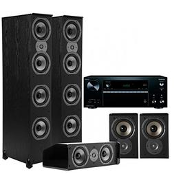 Onkyo TXNR676 7.2-Channel Receiver with Polk 5.0 Home Theate