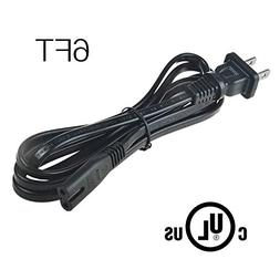 AT LCC 6ft/1.8m UL Listed AC in Power Cord Plug for ZVOX Sou