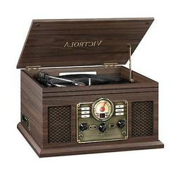 Victrola VTA-200B-ESP 6-In-1 Record Player With Bluetooth Tu