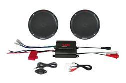 Pyle 2 Channel 400 Watt Waterproof Micro Marine Amplifier &