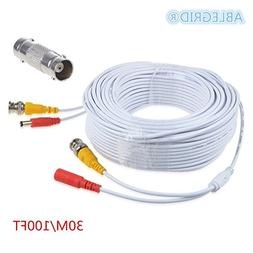 ABLEGRID 100ft White Extention Power Cable for SWANN SWDVK-4
