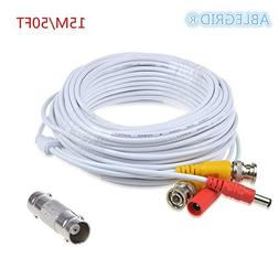 ABLEGRID 50ft White Extention Power Cable for SWANN SWDVK-44