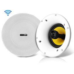 "WiFi Bluetooth Ceiling Mount Speakers - 6.5"" in-Wall/in-Ce"