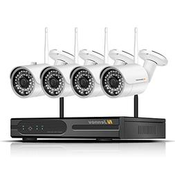 Jennov 4 Channel Wireless CCTV Home IP Security Camera Syste