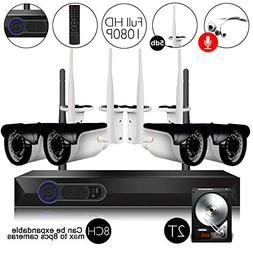CAMVIEW Wireless Security Home Surveillance System 8CH 1080P