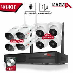 ANRAN Outdoor Wireless Home Security Camera System Two-Way A